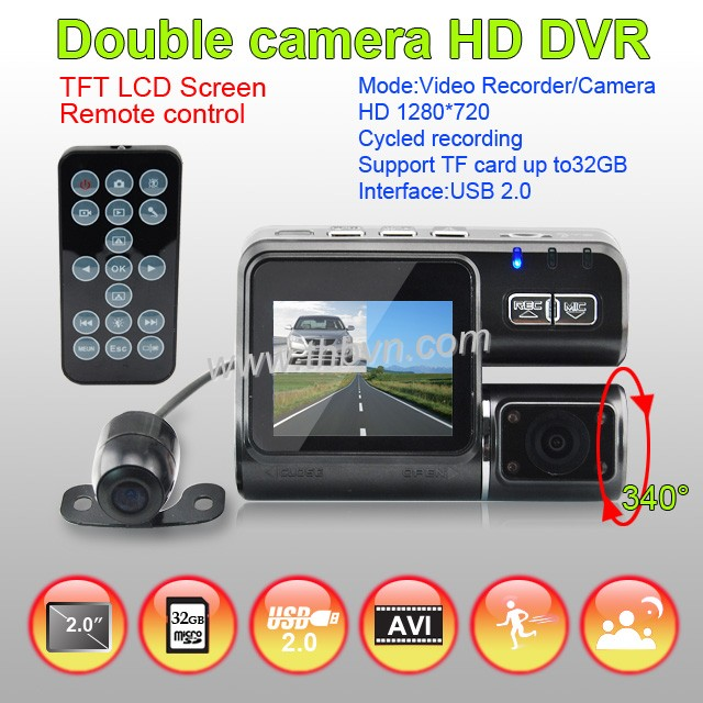 double camera car hd 720p