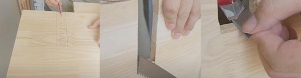 Các bước thực hiện tạo hình gỗ để tiến hành ghép nối