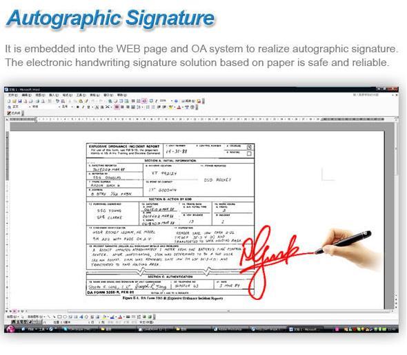 Chữ ký điện tử, chữ ký số, bút kỹ thuật số